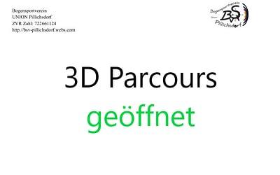 3D Parcours geöffnet